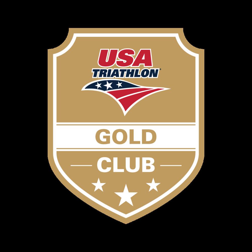 USA Triathlon Gold Club logo